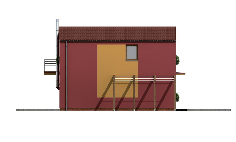 Pohľad 2. - Projekt moderného rodinného domu na úzky pozemok