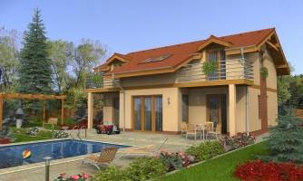 Poschodový dom s garážou a terasou