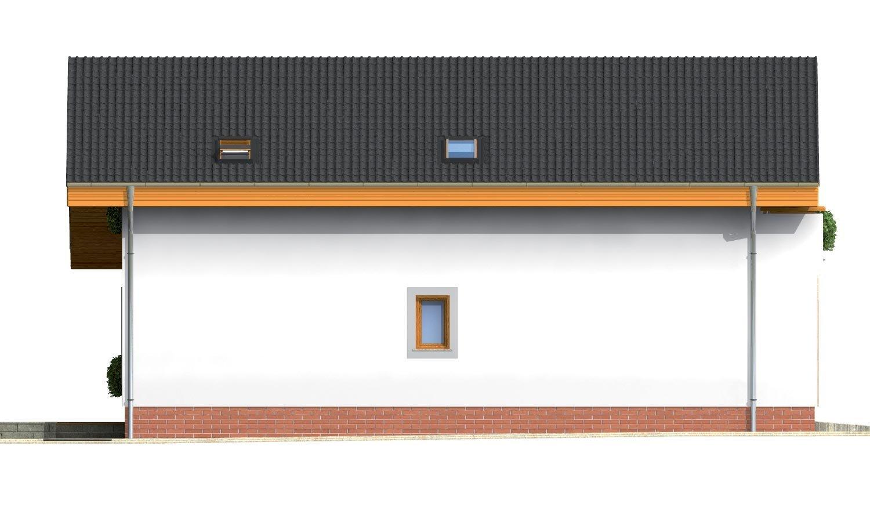 Pohľad 2. - Obľúbený projekt domu s garážou, z časti podkrovný.