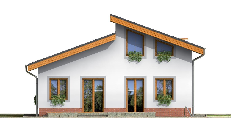Pohľad 3. - Obľúbený projekt domu s garážou, z časti podkrovný.
