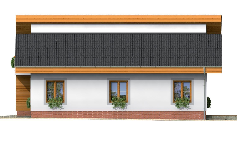 Pohľad 4. - Obľúbený projekt domu s garážou, z časti podkrovný.