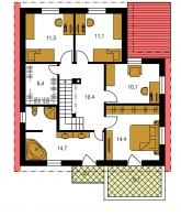 Pôdorys poschodia - TREND 273
