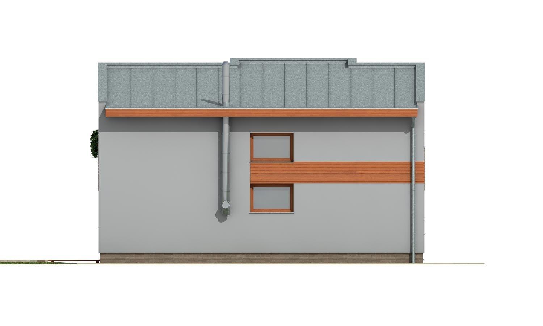 Pohľad 2. - Moderný dom na úzky pozemok s plochou strechou