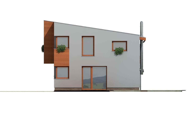 Pohľad 3. - Moderný dom na úzky pozemok s plochou strechou