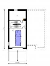 Pôdorys poschodia - TREND 275