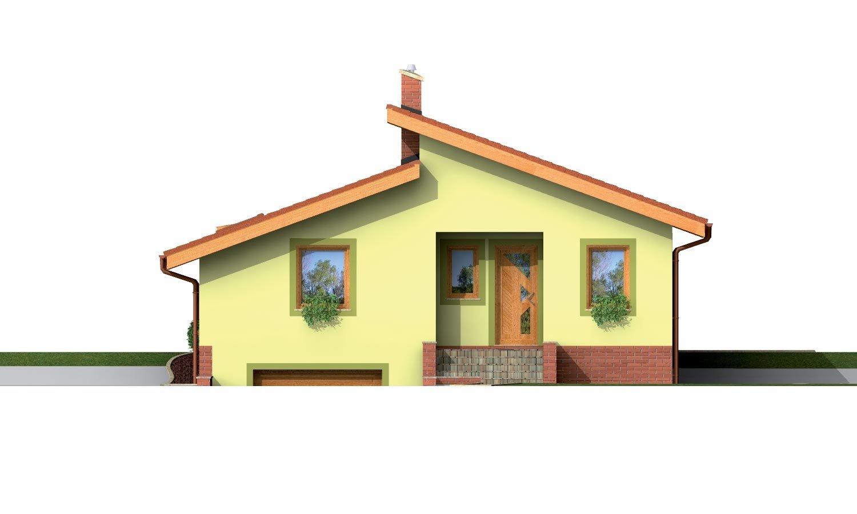 Pohľad 1. - Prízemný domček s garážou v suteréne