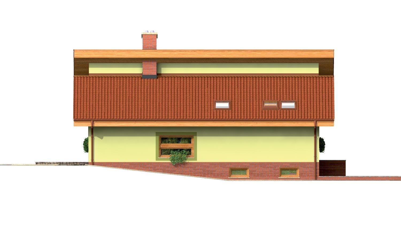 Pohľad 2. - Prízemný domček s garážou v suteréne