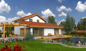 Menší zaujímavý dom z časti podkrovný