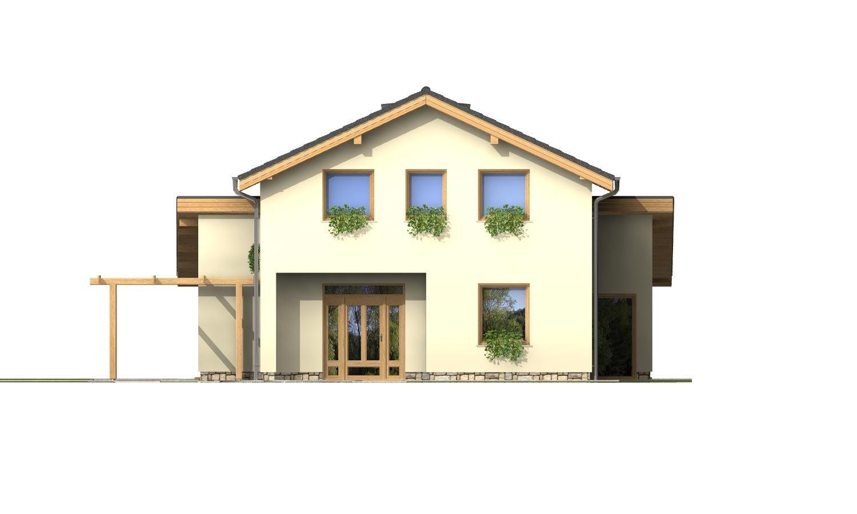 Pohľad 1. - Menší zaujímavý dom z časti podkrovný