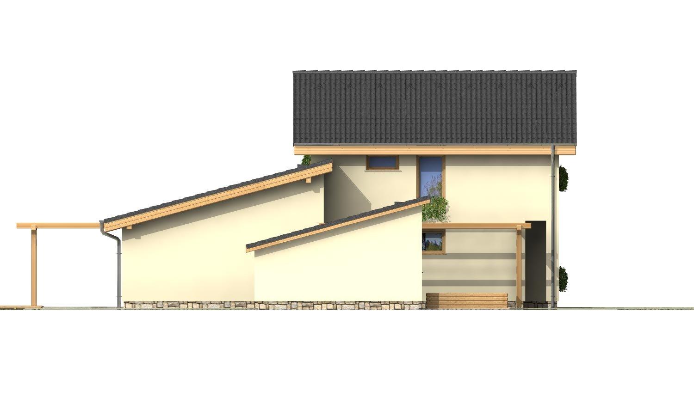 Pohľad 2. - Menší zaujímavý dom z časti podkrovný
