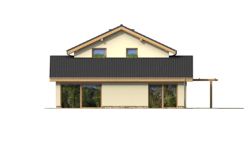 Pohľad 3. - Menší zaujímavý dom z časti podkrovný