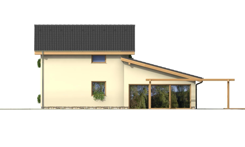 Pohľad 4. - Menší zaujímavý dom z časti podkrovný