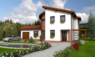 Moderný dom so zaujímavou dispozíciou.