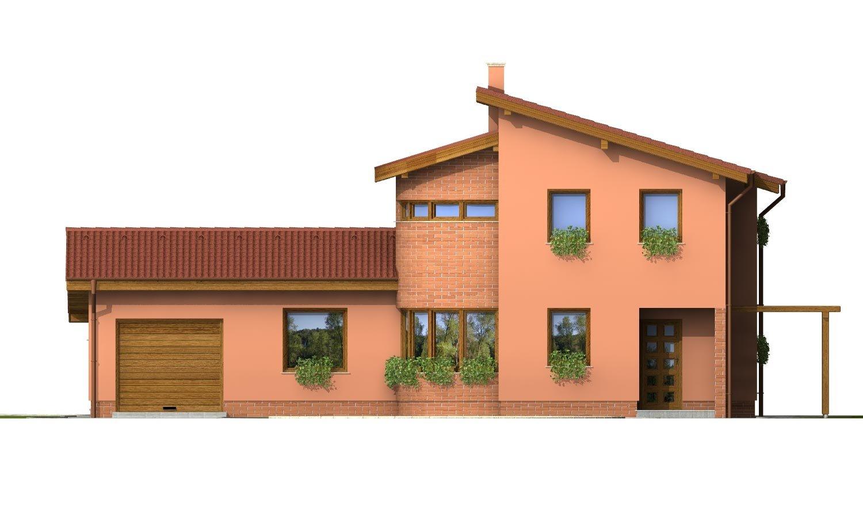 Pohľad 1. - Moderný dom so zaujímavou dispozíciou