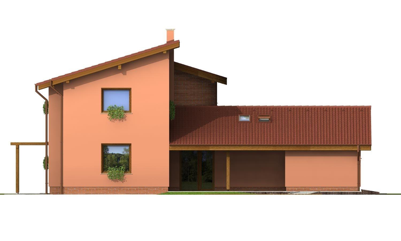 Pohľad 3. - Moderný dom so zaujímavou dispozíciou
