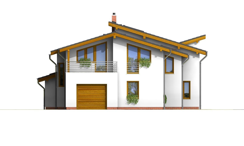 Pohľad 1. - Podkrovný dom s galériou a izbou na prízemí.
