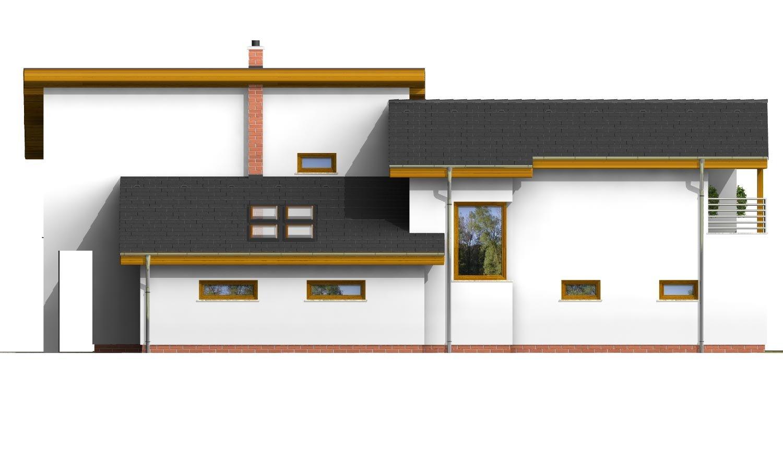 Pohľad 2. - Podkrovný dom s galériou a izbou na prízemí.