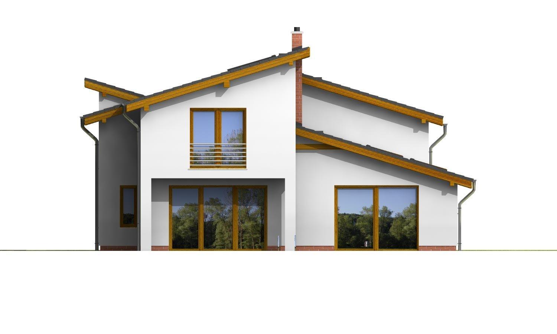 Pohľad 3. - Podkrovný dom s galériou a izbou na prízemí