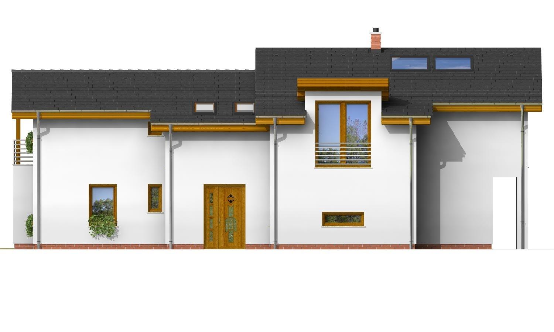 Pohľad 4. - Podkrovný dom s galériou a izbou na prízemí.