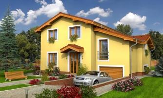 Poschodový rodinný dom so suterénom a s izbami na prízemí.
