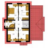Pôdorys poschodia - TREND 280