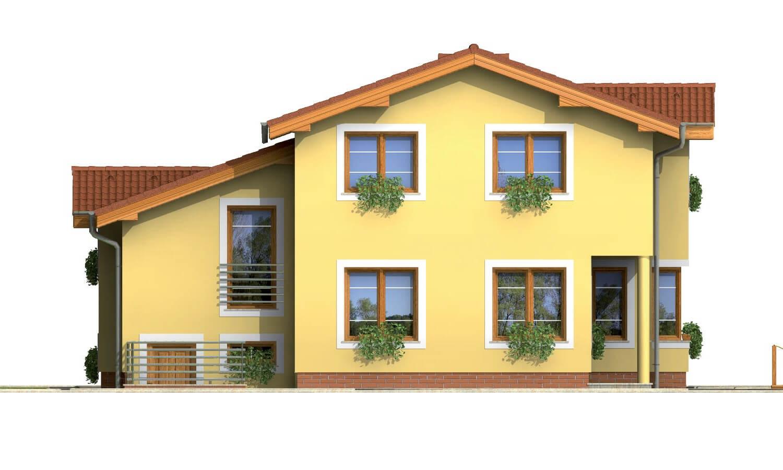 Pohľad 3. - Poschodový rodinný dom so suterénom a s izbami na prízemí.