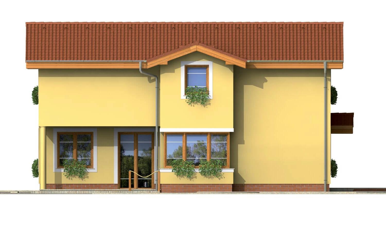 Pohľad 4. - Poschodový rodinný dom so suterénom a s izbami na prízemí.