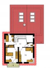 Pôdorys poschodia - TREND 284