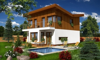 Zaujímavý projekt moderného rodinného domu.