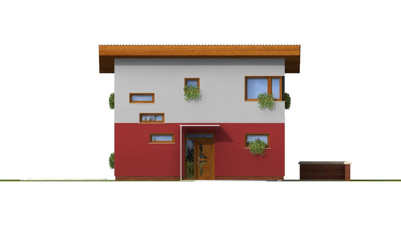 Pohľad 1. - Zaujímavý projekt moderného rodinného domu