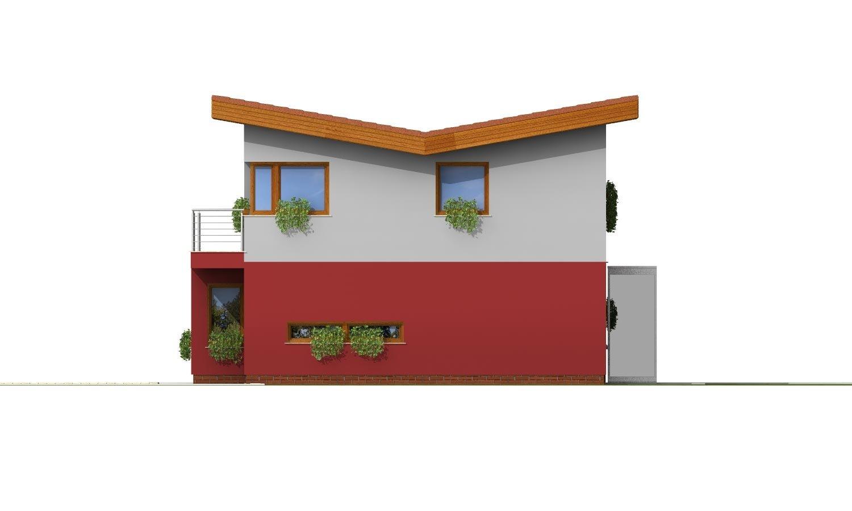 Pohľad 2. - Zaujímavý projekt moderného rodinného domu
