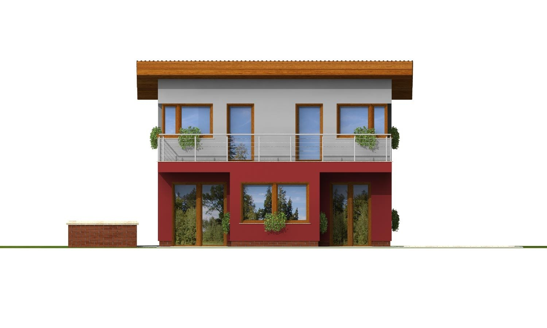 Pohľad 3. - Zaujímavý projekt moderného rodinného domu