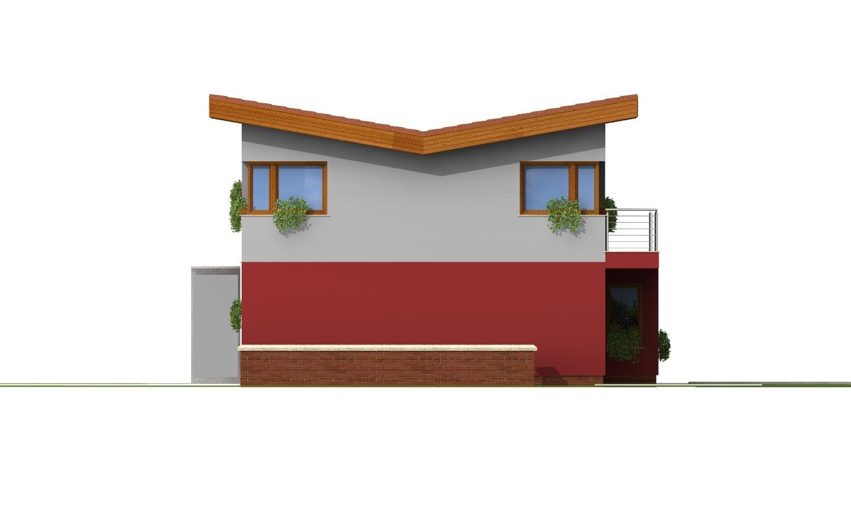 Pohľad 4. - Zaujímavý projekt moderného rodinného domu