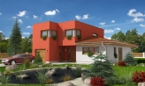 Moderný dom s pluchuu aj sedlovou strechou