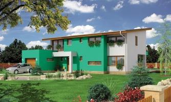 Veľký moderný rodinný dom.