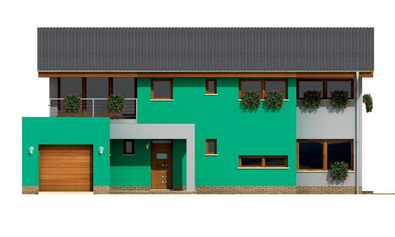 Pohľad 1. - Veľký moderný rodinný dom.