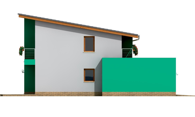 Pohľad 2. - Veľký moderný rodinný dom.