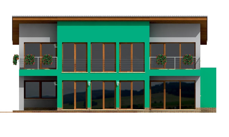 Pohľad 3. - Veľký moderný rodinný dom.