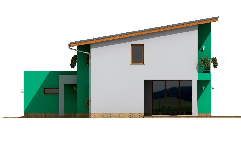 Pohľad 4. - Veľký moderný rodinný dom.