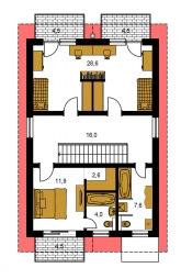 Pôdorys poschodia - TREND 289