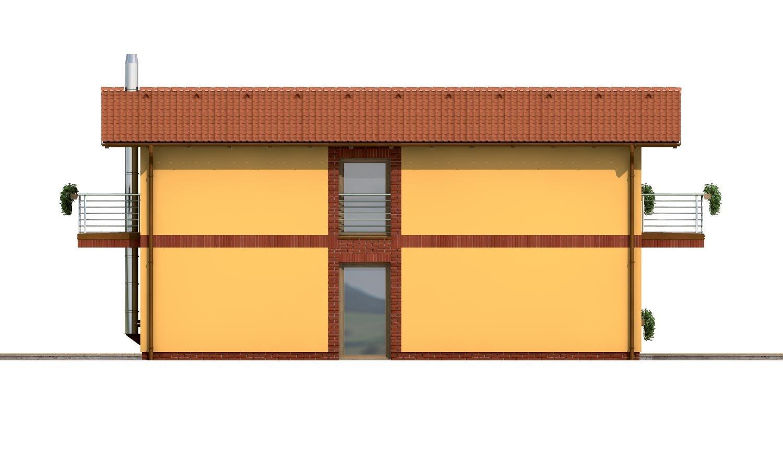 Pohľad 2. - Dom na užší pozemok so sedlovou strechou
