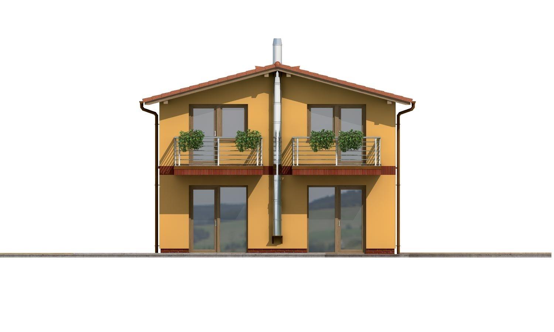 Pohľad 3. - Dom na užší pozemok so sedlovou strechou.