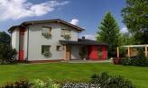 Moderný rodinný dom so sedlovými strechami