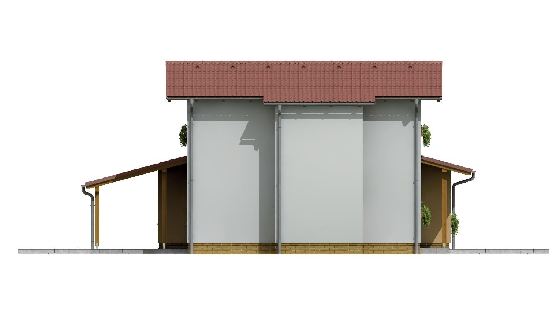 Pohľad 2. - Moderný rodinný dom so sedlovými strechami