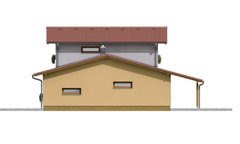 Pohľad 4. - Moderný rodinný dom so sedlovými strechami