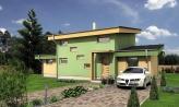 Moderný dom s garážou a pultovými strechami