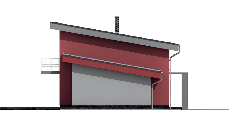 Pohľad 2. - Moderný dom s garážou a pultovými strechami