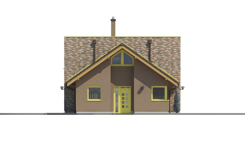 Pohľad 1. - Moderný rodinný dom s dvomi izbami na poschodí.