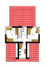 Pôdorys poschodia - TREND 293