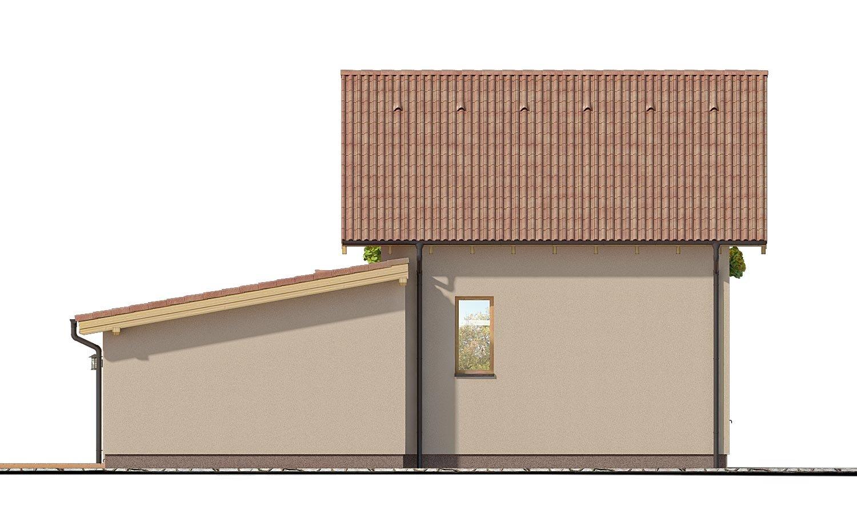 Pohľad 3. - Moderný rodinný dom s prízemnou obývačkou a kuchynskou časťou